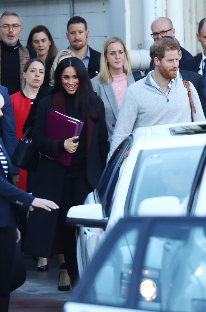 The Duke and Duchess of Sussex arriving in Sydney.