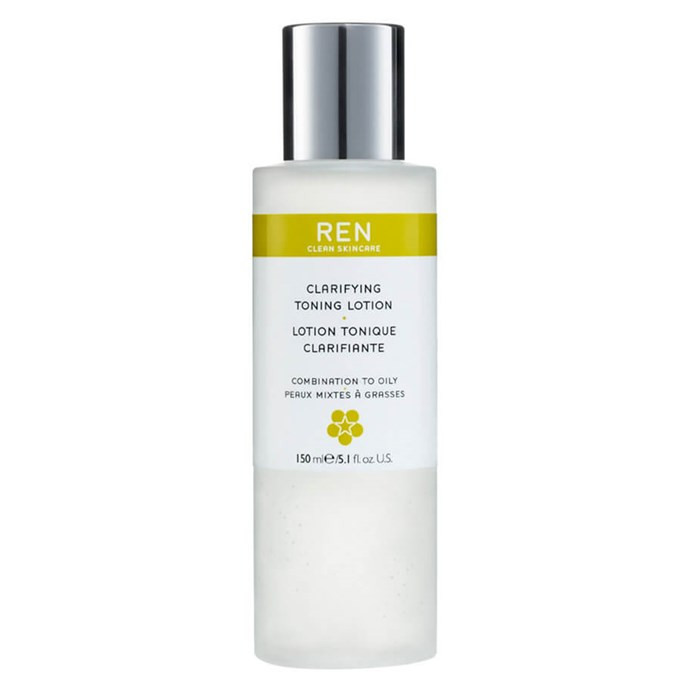 "Boutique brand Ren Clean Skincare has already picked up a cult following, and its toning lotion is targeted specifically toward combination and oily faces.  <br><br> *Clarifying Toning Lotion by Ren Clean Skincare, $33 for 150mL at [MECCA](https://www.mecca.com.au/ren-clean-skincare/clarifying-toning-lotion/I-014224.html|target=""_blank"")*"