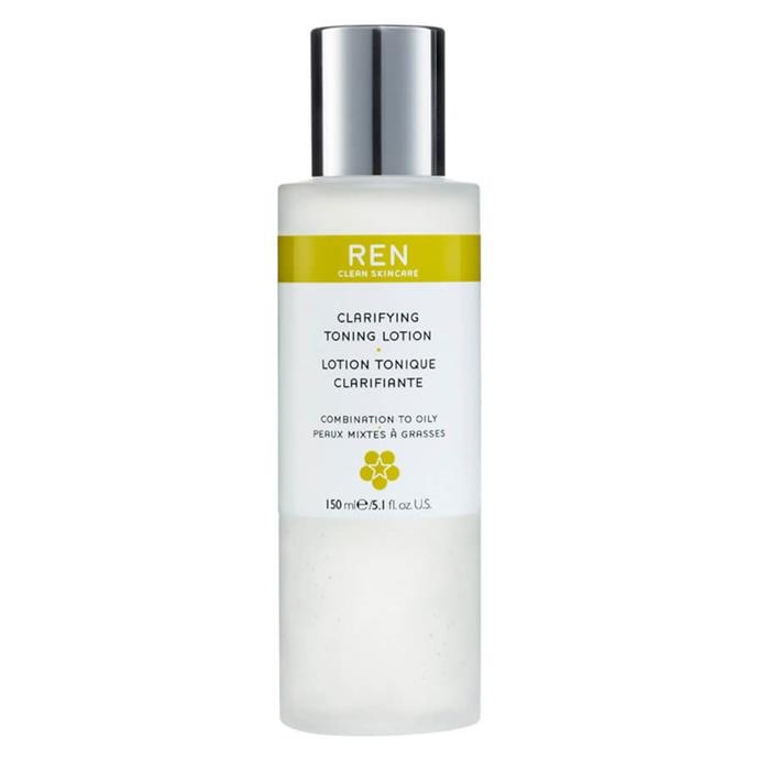 """Boutique brand Ren Clean Skincare has already picked up a cult following, and its toning lotion is targeted specifically toward combination and oily faces.  <br><br> *Clarifying Toning Lotion by Ren Clean Skincare, $33 for 150mL at [MECCA](https://www.mecca.com.au/ren-clean-skincare/clarifying-toning-lotion/I-014224.html