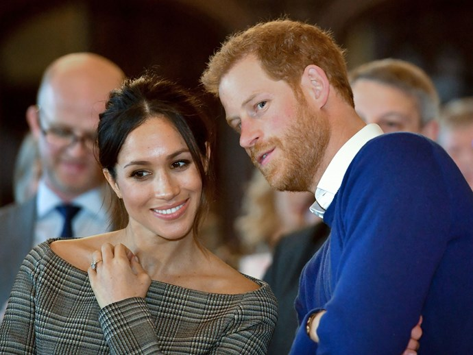 Meghan's beaming smile truly proves how in love these two are.