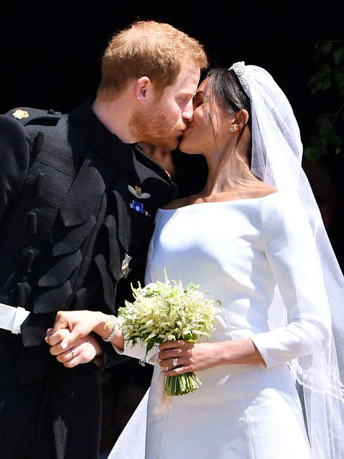 Their cutest moment perhaps was their first public kiss and a newly-minted married couple.