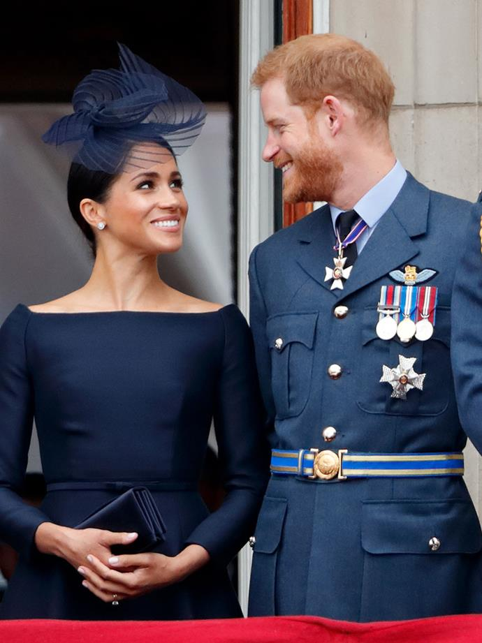 No one will ever be able to wipe these loving grins of Harry and Meghan's faces.
