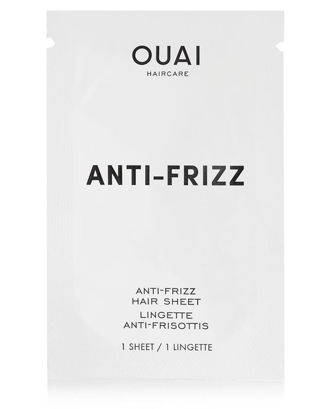 "Anti-Frizz Hair Sheets by Ouai, $33.06 at [Net-a-Porter](https://www.net-a-porter.com/au/en/product/1063740/Ouai_Haircare/anti-frizz-smoothing-sheets-x-15|target=""_blank""|rel=""nofollow"")"