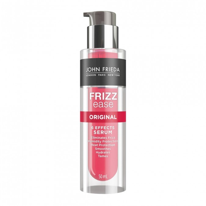 """The original frizz eliminator can be applied to wet hair and works all day to keep pesky fly aways to a minimum.<br><br> Frizz Ease Original 6 Effects Serum by John Frieda, $16.99 at [Priceline](https://www.priceline.com.au/john-frieda-frizz-ease-original-6-effects-serum-50-ml