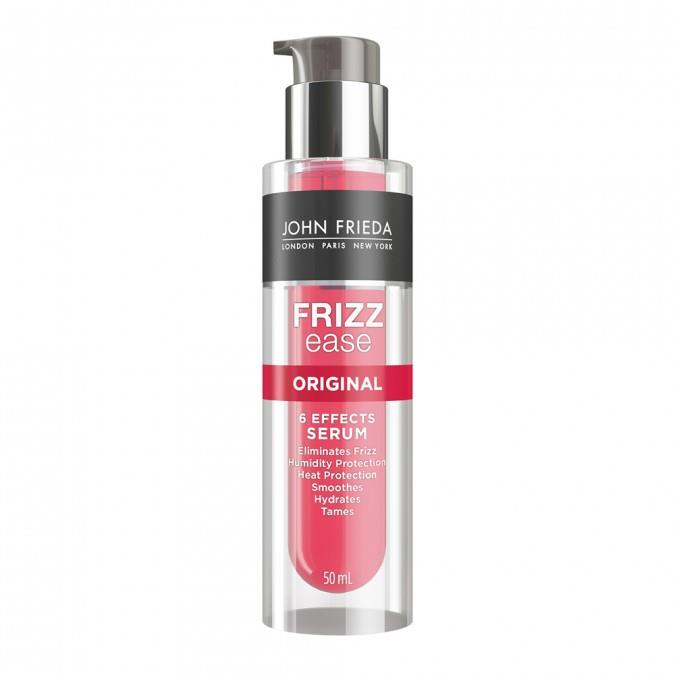"The original frizz eliminator can be applied to wet hair and works all day to keep pesky fly aways to a minimum.<br><br> Frizz Ease Original 6 Effects Serum by John Frieda, $16.99 at [Priceline](https://www.priceline.com.au/john-frieda-frizz-ease-original-6-effects-serum-50-ml|target=""_blank""