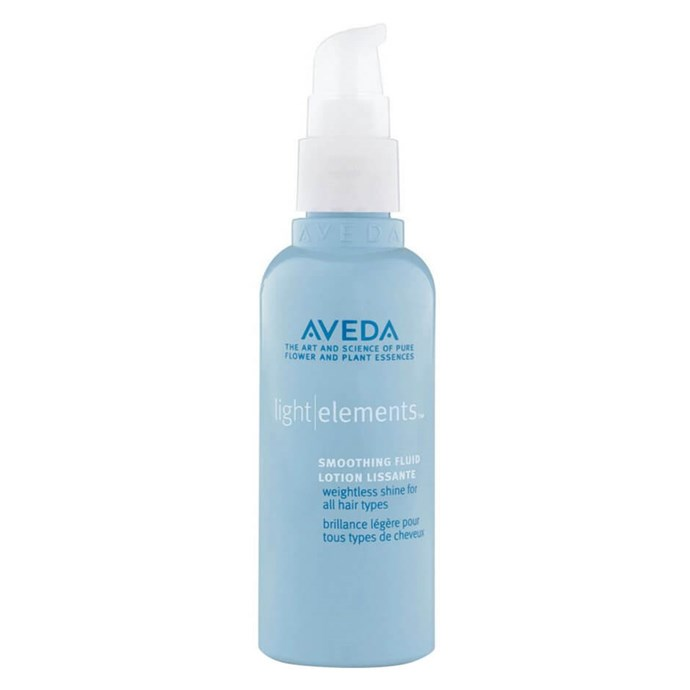 """Jojoba and lavender oils help this product tame frizziness and promote natural bounce.<br><br> Light Elements Smoothing Fluid by Aveda, $44.95 at [MECCA](https://www.mecca.com.au/aveda/light-elements-smoothing-fluid/I-032785.html?cgpath=hair