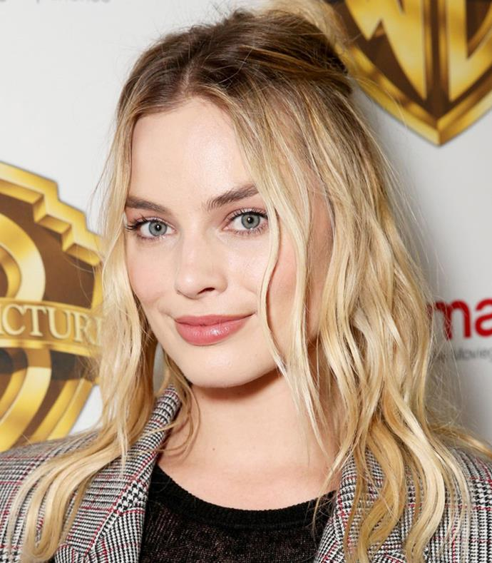 **Twisted Half-Up** <br><br> **Red Carpet:** Braids, balayage and some carefully placed matted hair give Margot Robbie's mane serious texture.