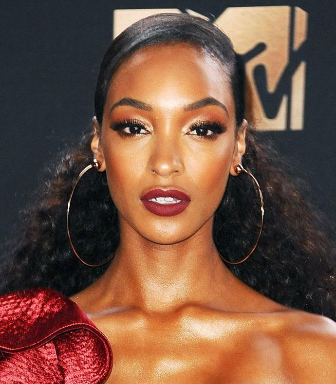 **Slicked Back** <br><br> **Red Carpet:** It's all about Jourdan Dunn's clean and slicked back look.