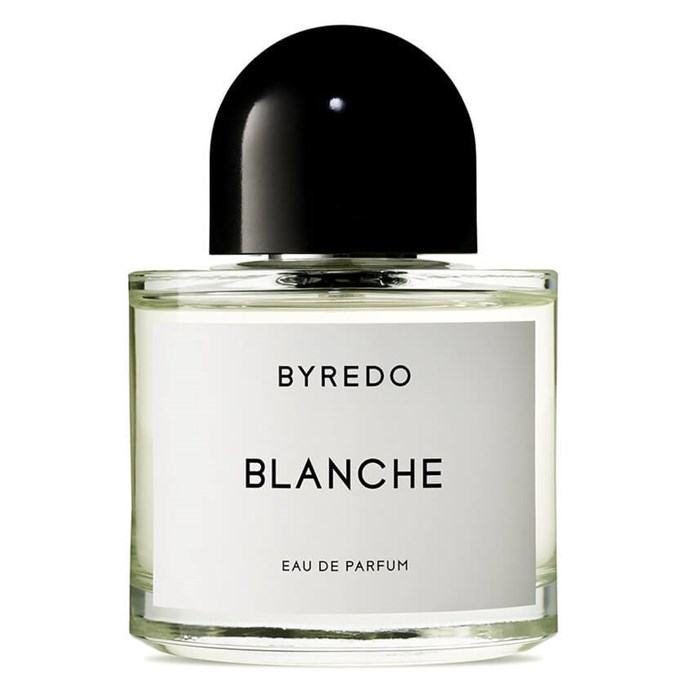 "Designed to evoke the colour white, Byredo's Blanche combines top notes of white rose and pink pepper with bases of neroli, peony and violet.<br><bR> Blanche 100ml by Byredo, $184 at [MECCA](https://www.mecca.com.au/byredo/blanche-edp-50ml/I-010753.html?gclid=EAIaIQobChMI3oCx0ceR3gIVxzUrCh1VHAXFEAQYASABEgLxXvD_BwE|target=""_blank""