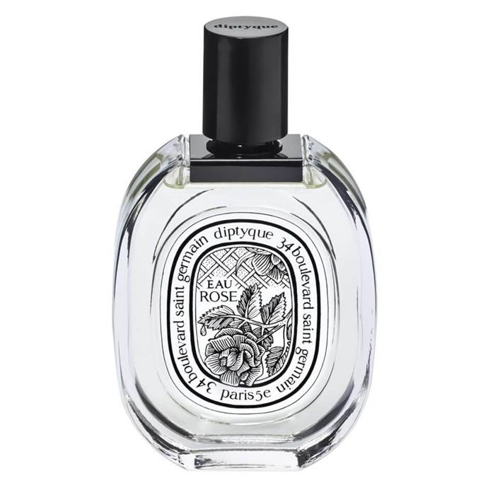 "Doing exactly what it says on the bottle, Diptyque's Eau Rose is made up of bergamot, lychee, centifolia rose, damask rose, white musk, and honey.<br><br> Eau Rose 100ml by Diptyque, $170 at [MECCA](https://www.mecca.com.au/diptyque/eau-rose-edt/I-031092.html?cgpath=fragrance-personalfragrance|target=""_blank""