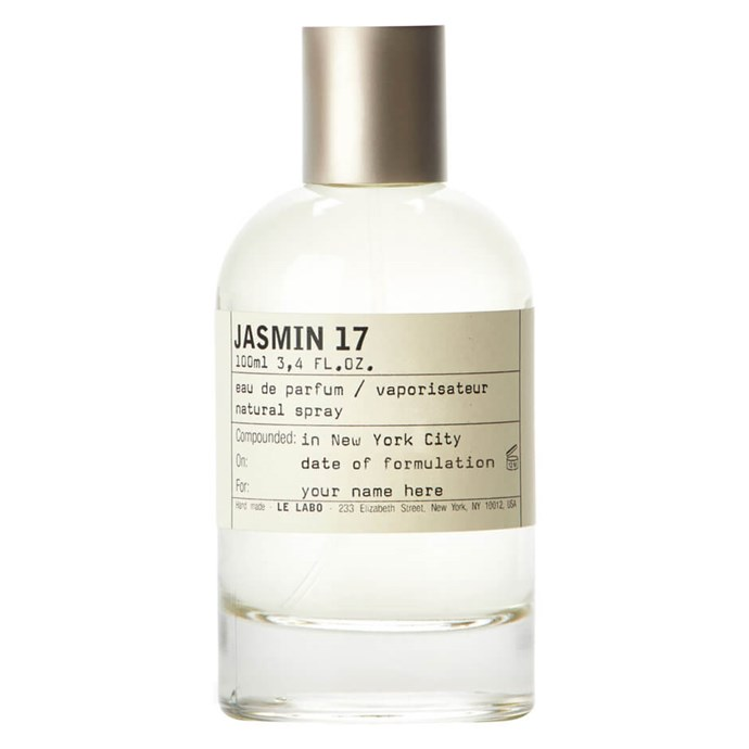 "Centred around the sweet scent of jasmine, Le Labo adds sandalwood and musk to bring out a brightness and a freshness.<br><br> Jasmin 17 100ml by Le Labo, $396 at [MECCA](https://www.mecca.com.au/le-labo/jasmin-17/V-007168.html|target=""_blank""