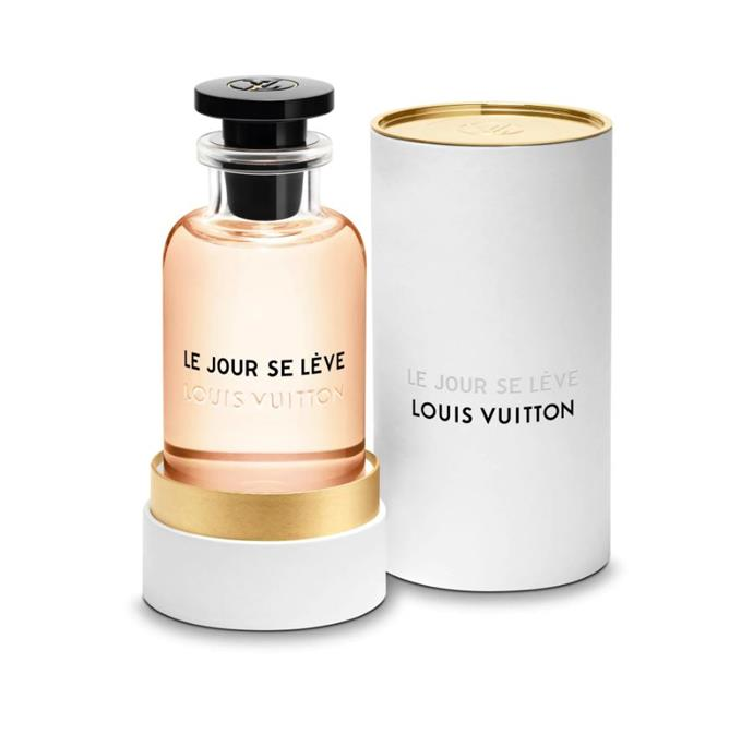 "Fruity, fresh and radiant, Louis Vuitton's new scent draws inspiration from early morning atmospheres and sundrenched lunches.<br><br> Le Jour Se Lève 100ml, $340 at [Louis Vuitton](https://au.louisvuitton.com/eng-au/products/le-jour-se-leve-nvprod880010v|target=""_blank""