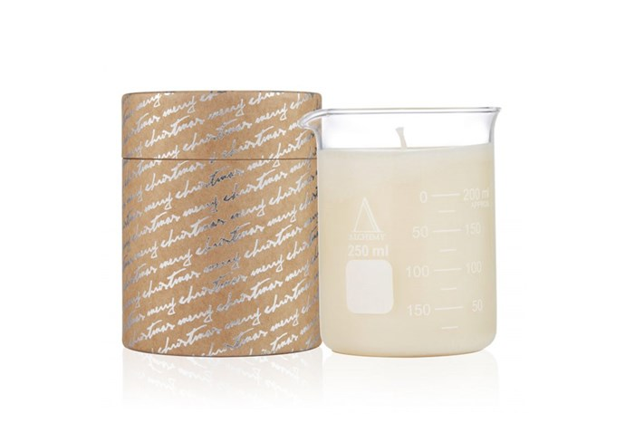 "**Christmas 210g Beaker Candle Limited Edition, $43 at [Alchemy Produx](http://www.alchemyprodux.com/product/candles/christmas-210gram-beaker-candle/|target=""_blank""