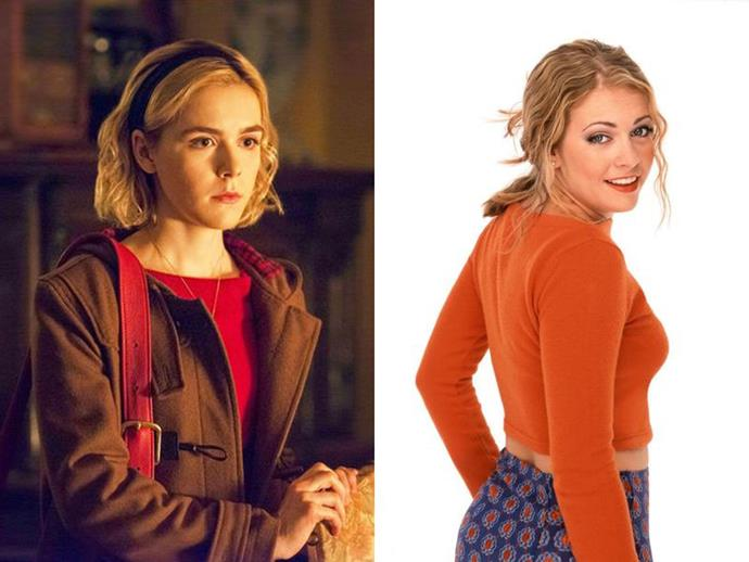"**SABRINA SPELLMAN** <br>  Unlike her sitcom counterpart (Melissa Joan Hart), the Sabrina Spellman of today (played by Kiernan Shipka) is a little less concerned with mysterious magical cameos and trying to swing a date with her crush, and a little more concerned with, you know, staying alive.  <br><br> Described as ""a dark coming-of-age story that traffics in horror, the occult and, of course, witchcraft,"" the Sabrina in [this adaptation](https://www.elle.com.au/culture/chilling-adventures-of-sabrina-reboot-18293