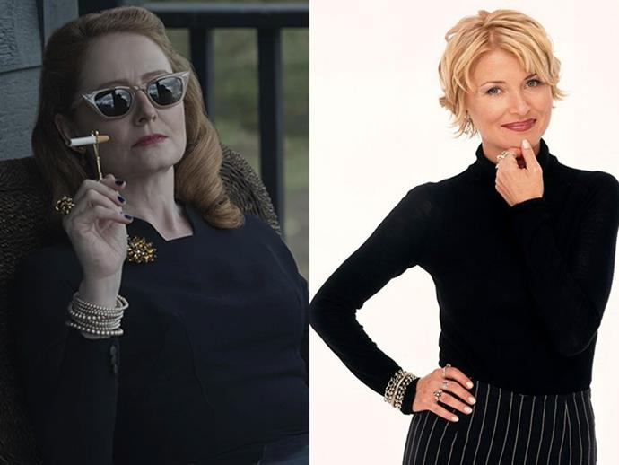 **ZELDA SPELLMAN** <br>  A counter to Hilda's overtly sweet nature is Aunt Zelda—who is brash and abrasive on the outside, but also contains a cleverly hidden heart of gold. <br><br> A full witch, Miranda Otto's Zelda has dedicated immortal life to serving the Dark Lord and is a devout member of the Church of Night. Safe to say no one in Greendale would want to cross Zelda any time soon, Spellman family members included.