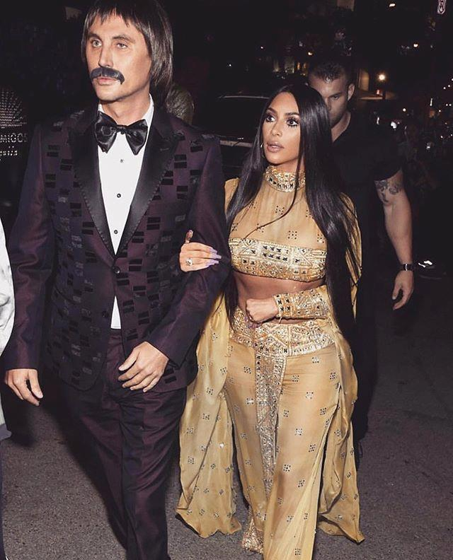 "Continuing her love for couple-themed costumes, Kim Kardashian West and BFF Jonathan Cheban went to Halloween 2017 as Cher and her ex-husband Sonny Bono, respectively.  <br><br> *Image: [@kimkardashian](https://www.instagram.com/p/BbUgGebFKYu/?taken-by=kimkardashian|target=""_blank"")*"