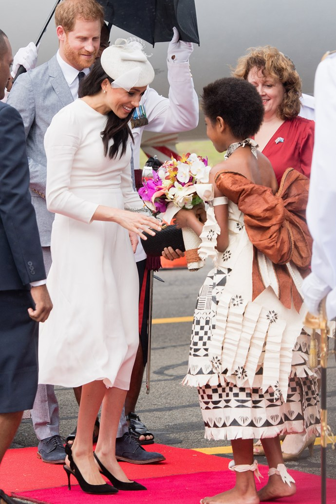 Meghan Markle and Prince Harry in Suva, Fiji on October 23.
