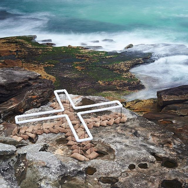 "***Sculpture By The Sea*** <br> It's that time of year again—with the Bondi to Bronte coastal walk being amplified by works from Australian and world-renowned sculptors for the beginning part of November.  <br><br> Pictured is the sculpture 'Land:Place:Site' by Wagga Wagga-based design talent Wendy Teakel.  <br><br> *Image: [@sculpturebythesea](https://www.instagram.com/p/BpEJYdNl9SI/?taken-by=sculpturebythesea|target=""_blank""