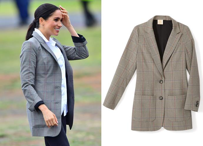 "Wearing the Boss blazer, $204 by [Serena Williams](https://www.serenawilliams.com/collections/outerwear/products/boss-oversized-blazer?|target=""_blank""