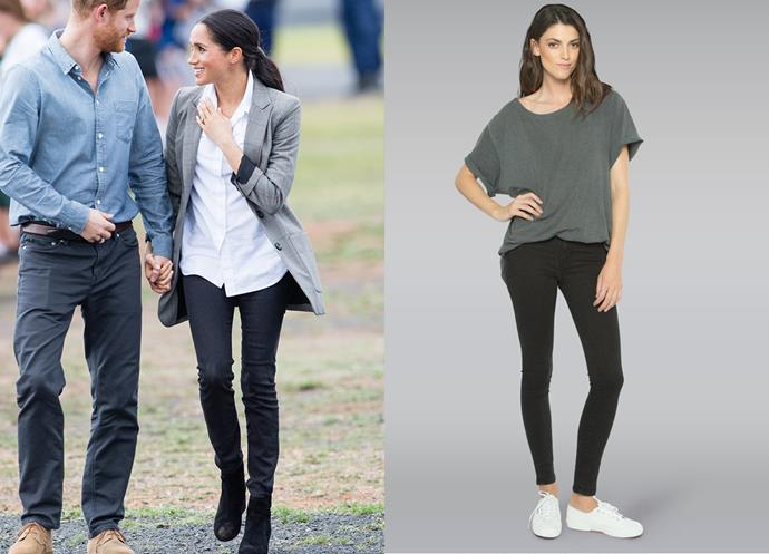 "Wearing the Harriet jeans, $253 by [Outland Denim](https://outlanddenim.ca/products/harriet-in-black-1?variant=12431424815201|target=""_blank""