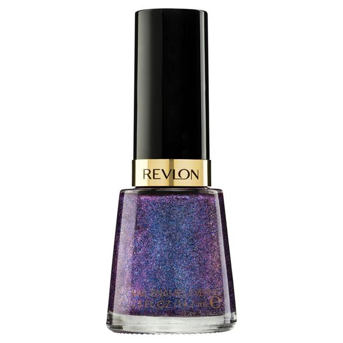 "Nail polish in Magnetic by Revlon, $13.95 at [David Jones](https://www.davidjones.com/Product/20824245|target=""_blank""