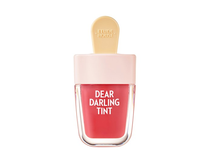 "K-Beauty brand Etude House has made a name for itself with its soft, buildable stains, which come shaped like tiny ice-pops.<br><bR>  Dear Darling Water Gel Tint (4 Colors) by Etude House, $9.50 at [Yesstyle](https://www.yesstyle.com/en/etude-house-dear-darling-water-gel-tint-4-colors-br403-choco-red/info.html/pid.1063270908##productAnchor|target=""_blank""