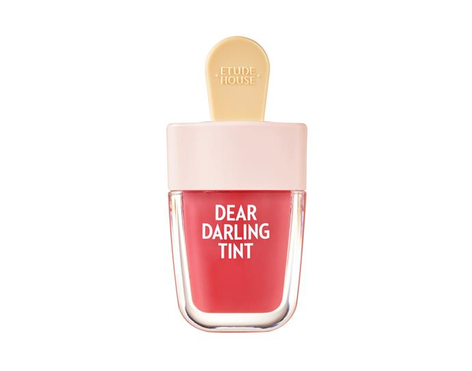 """K-Beauty brand Etude House has made a name for itself with its soft, buildable stains, which come shaped like tiny ice-pops.<br><bR>  Dear Darling Water Gel Tint (4 Colors) by Etude House, $9.50 at [Yesstyle](https://www.yesstyle.com/en/etude-house-dear-darling-water-gel-tint-4-colors-br403-choco-red/info.html/pid.1063270908##productAnchor