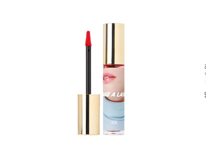 "A stain-gloss hybrid, Take A Layer's 'Tinted Water Tint' option promises to sink into lips while keeping them glossy all day.<br><br> Tinted Water Tint, $22 at [YesStyle](https://www.yesstyle.com/en/3-concept-eyes-take-a-layer-tinted-water-tint-5-colors/info.html/pid.1067143988|target=""_blank""