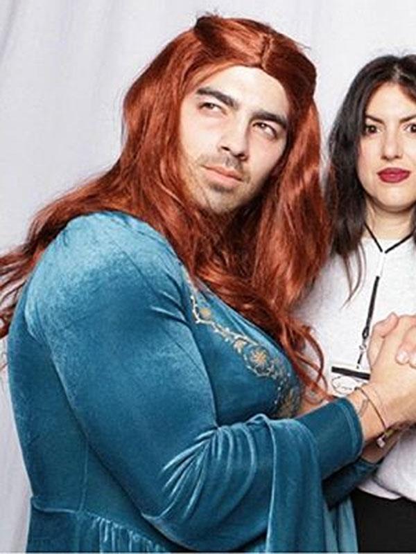 Joe Jonas as *Game of Thrones'* Sansa Stark.