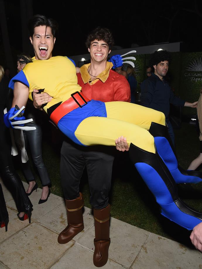 Noah Centineo as Gaston and Austin Butler as Wolverine.