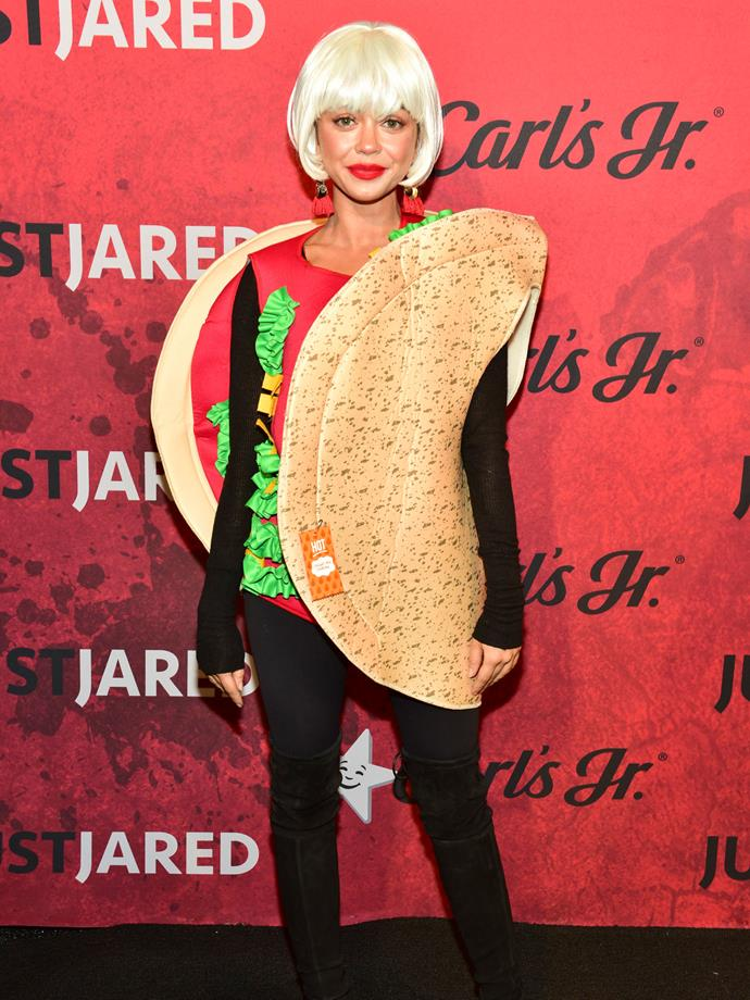 Sarah Hyland as a taco.