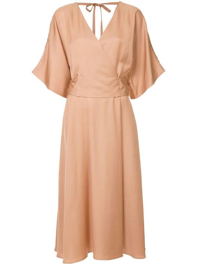 "*'Merge' flared midi-dress by Ginger & Smart, $499 at [Farfetch](https://www.farfetch.com/au/shopping/women/ginger-smart-merge-flared-midi-dress-item-13090823.aspx?storeid=9873|target=""_blank""|rel=""nofollow"")*"