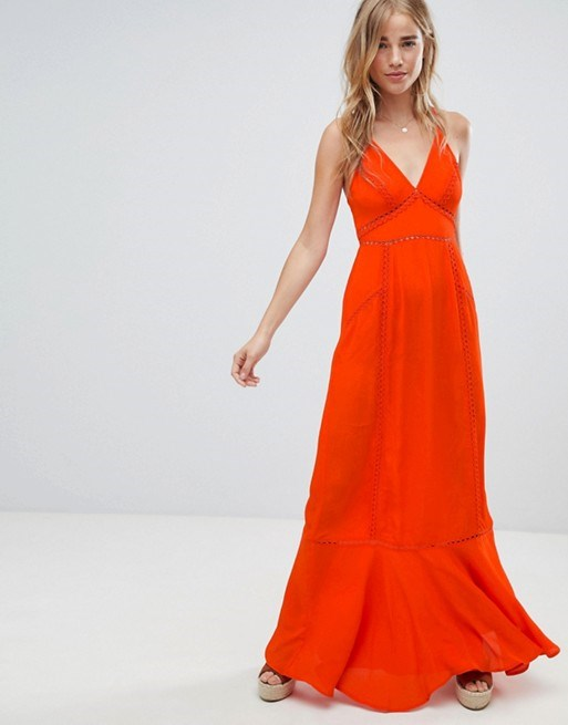 "*Broderie Insert Maxi Dress by ASOS Design, $110 at [ASOS](https://www.asos.com/au/asos-design/asos-design-broderie-insert-maxi-dress/prd/9677808?clr=red&SearchQuery=asos+design+broderie+insert&SearchRedirect=true|target=""_blank""