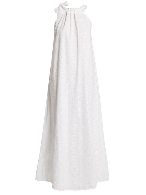 """*'Camille' maxi-dress by Kalita, $891 at [MATCHESFASHION](https://www.matchesfashion.com/au/products/Kalita-Camille-maxi-dress-1206969