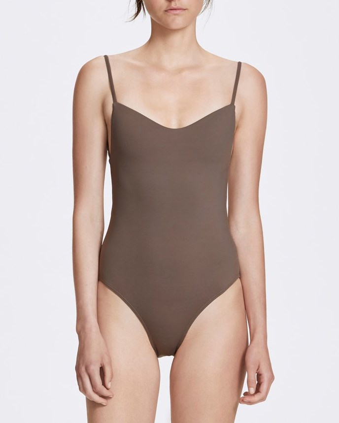 "***Mrs. Brown***<br><br> Our recommendation: One piece, $160 by [Her Line](https://www.her-line.com/products/romy-one-piece-terra-brown|target=""_blank""