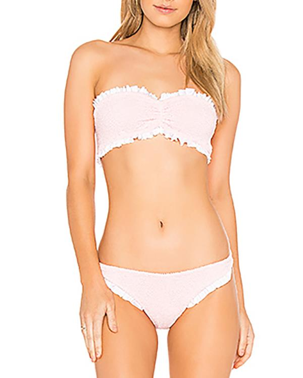 """***Get It, Girly***<br><br> Our recommendation: Bikini set by Hunza G, $282 at [Revolve](https://www.revolveclothing.com.au/r/DisplayProduct.jsp?aliasURL=hunza-g-lucille-bikini-set-in-pink/dp/HUNG-WX11&product=HUNG-WX11