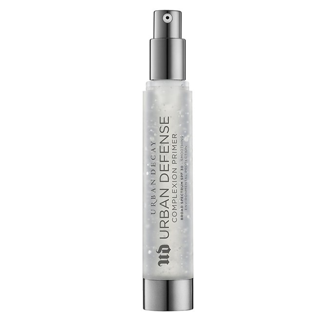 """**Urban Defense Complexion Primer Broad Spectrum SPF 30+ by Urban Decay, $57 at [Mecca](https://www.mecca.com.au/urban-decay/urban-defense-complexion-primer-broad-spectrum-spf-30/I-026681.html?cgpath=makeup-complexion-primer target=""""_blank"""" rel=""""nofollow"""")**"""