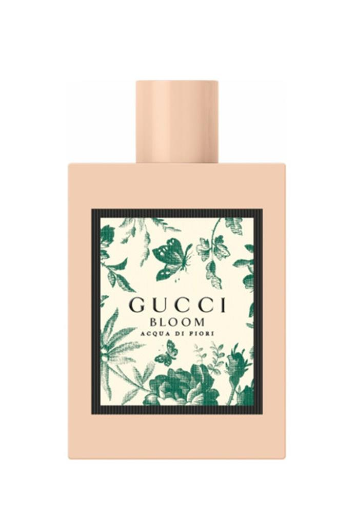 "<strong>For The Spring Wedding:</strong> <br><br>Highlight the season's warmer temperatures and fresh blooms with this crisp, green scent, designed to celebrate the energy of youth. <br><br>Gucci Bloom Acqua di Fiori EDT, $140 for 50ml, [Gucci](https://www.myer.com.au/p/bloom-acqua-di-fiori-edt-599739670?size=50ml|target=""_blank""