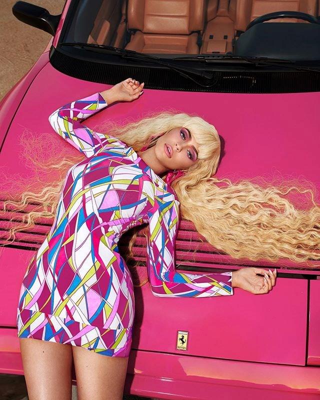 Kylie Jenner as Barbie.