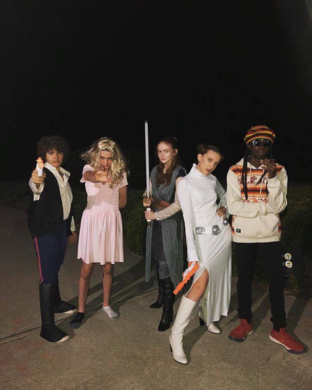 The cast of *Stranger Things*.
