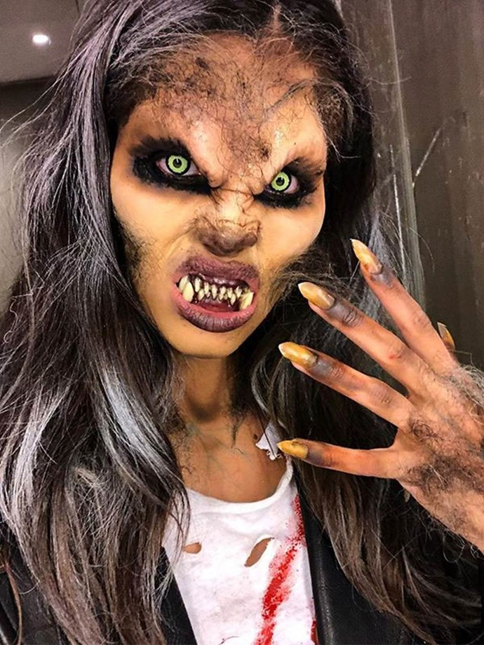 Sara Sampaio as a werewolf.