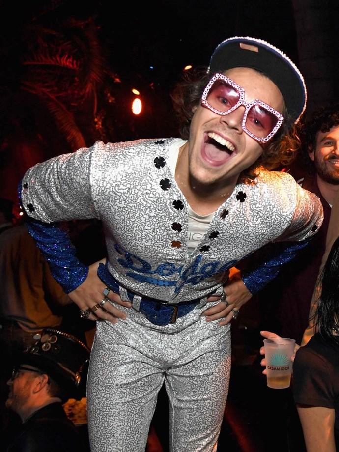 Harry Styles as Elton John in head-to-toe Gucci.