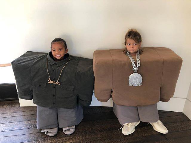Saint West and Reign Disick as Kanye West and Lil Pump.