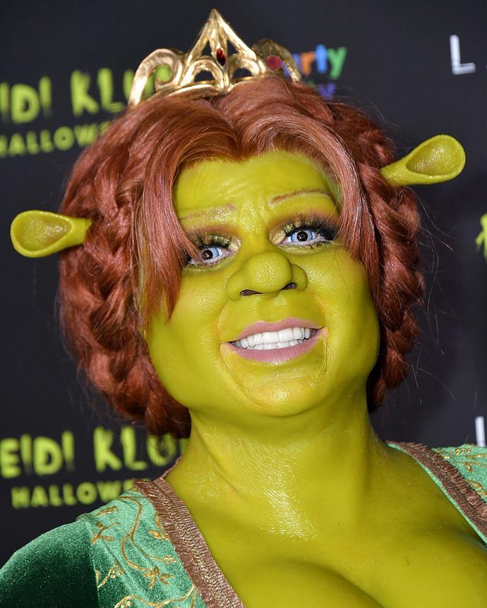 Heidi Klum as Princess Fiona from *Shrek*.