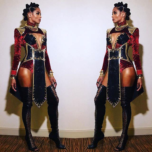 Ciara as Naika from *Black Panther*.