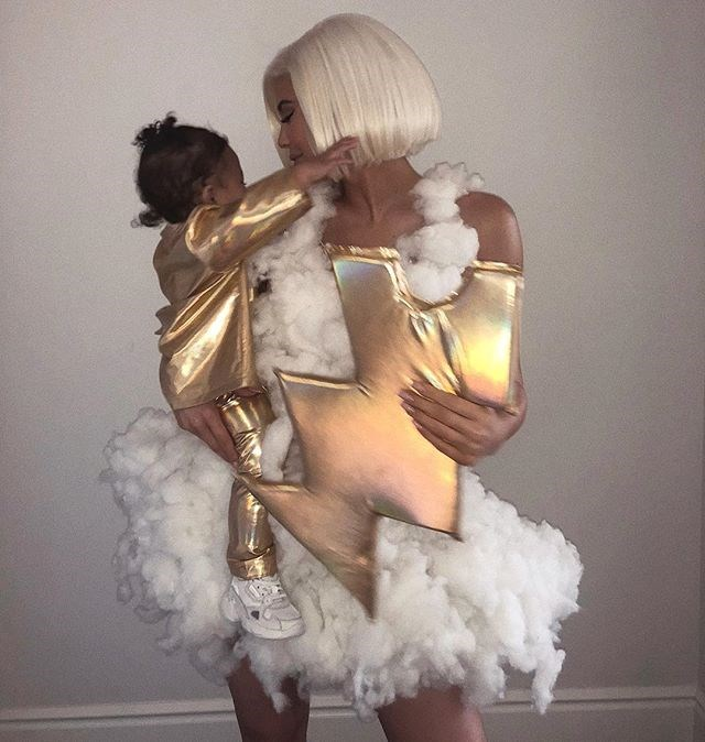 Kylie Jenner and Stormi Webster as *literal* stormy weather.