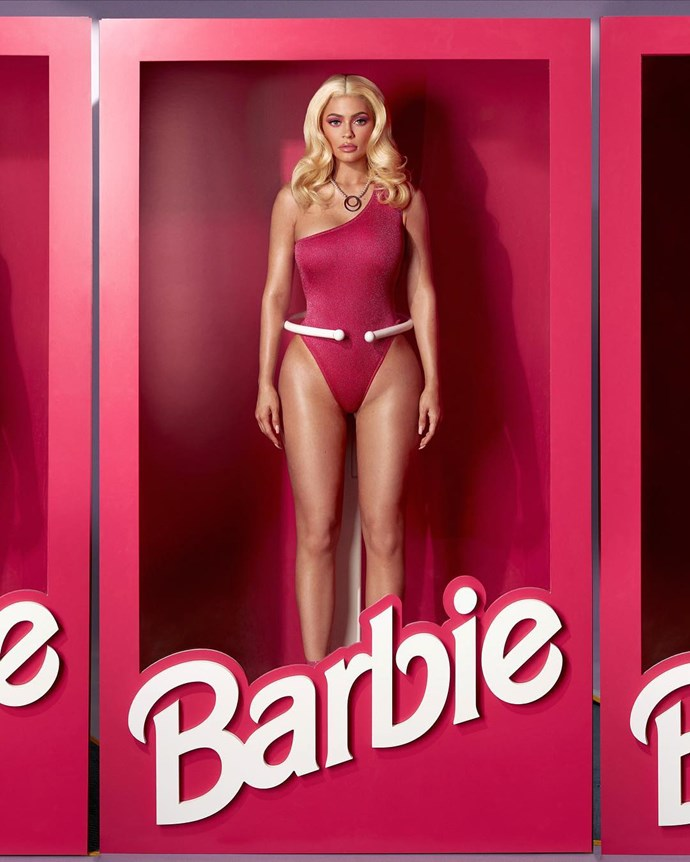 Kylie Jenner as Barbie.