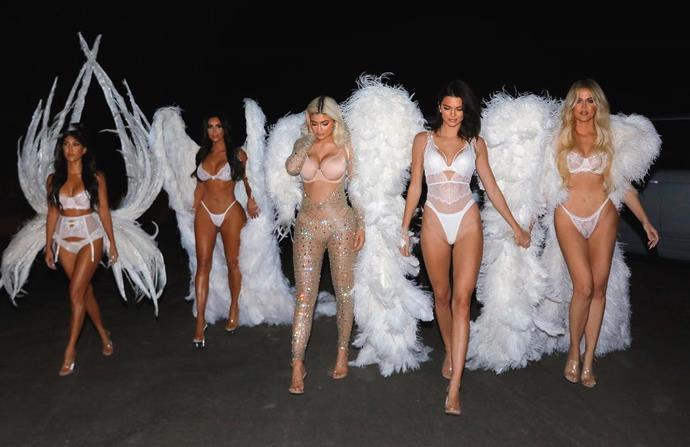 Kourtney, Kim, Kylie, Kendall and Khloe as Victoria's Secret Angels.