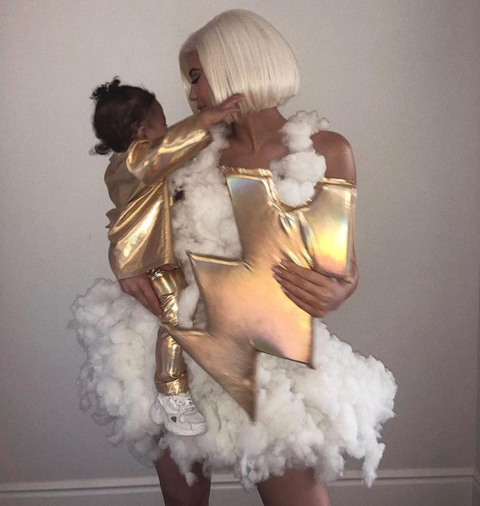 Kylie Jenner and Stormi Webster as 'stormy weather.'