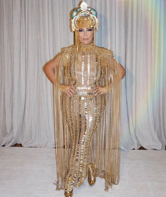 Kris Jenner as Cleopatra.